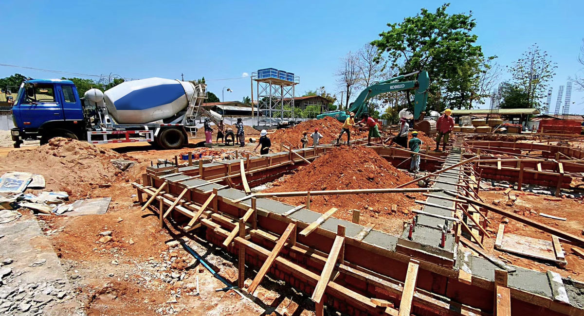 xây dựng trạm trộn bê tông